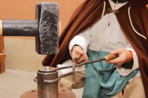 Minting coins the medieval way