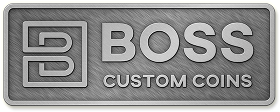Custom Challenge Coin Antique Silver Metal Plating Finish