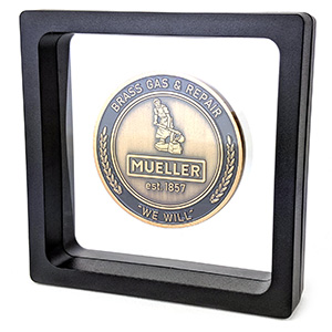 Get one FREE floating coin presentation case with every order!